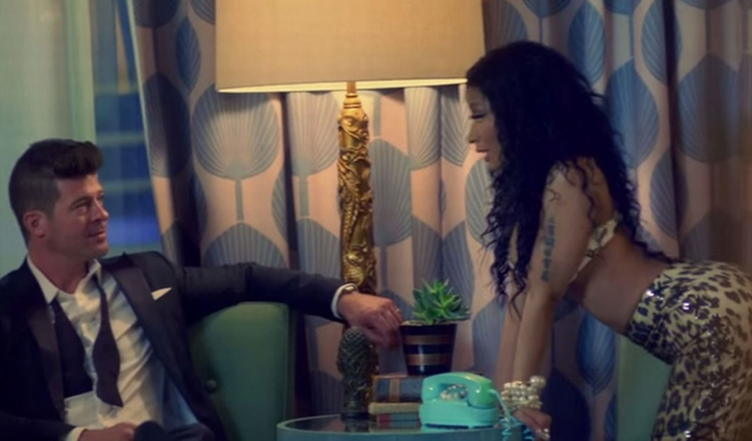 Watch-Nicki-Minaj-attempt-to-seduce-Robin-Thicke-in-Back-Together-video