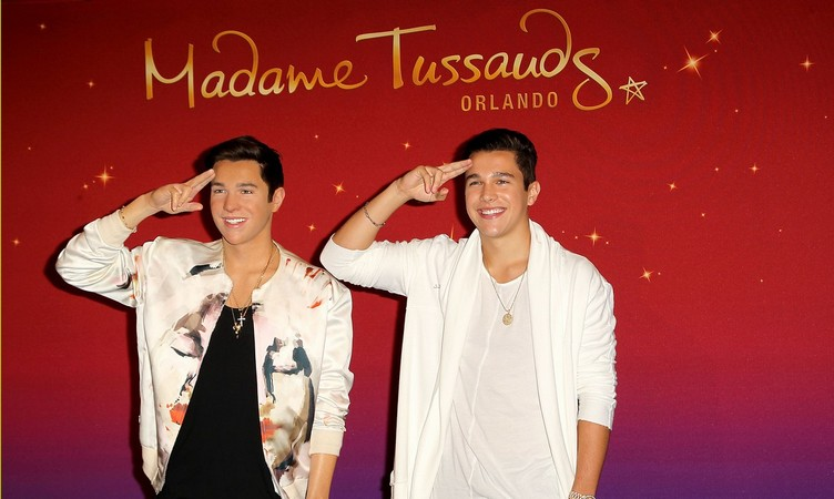 Austin Mahone Reveals his Wax Figure at Madame Tussaud's in New York City