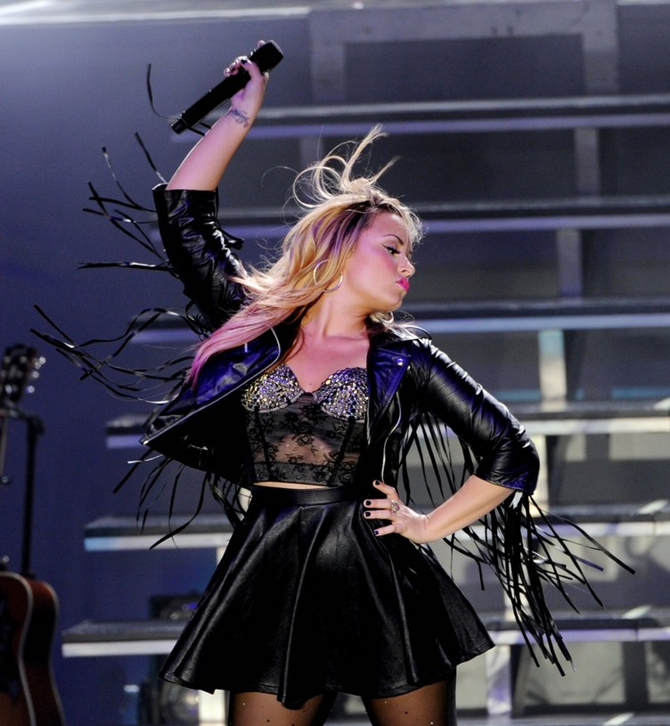 Demi Lovato, Owl City and Neon Hitch Perform At The Greek Theatre