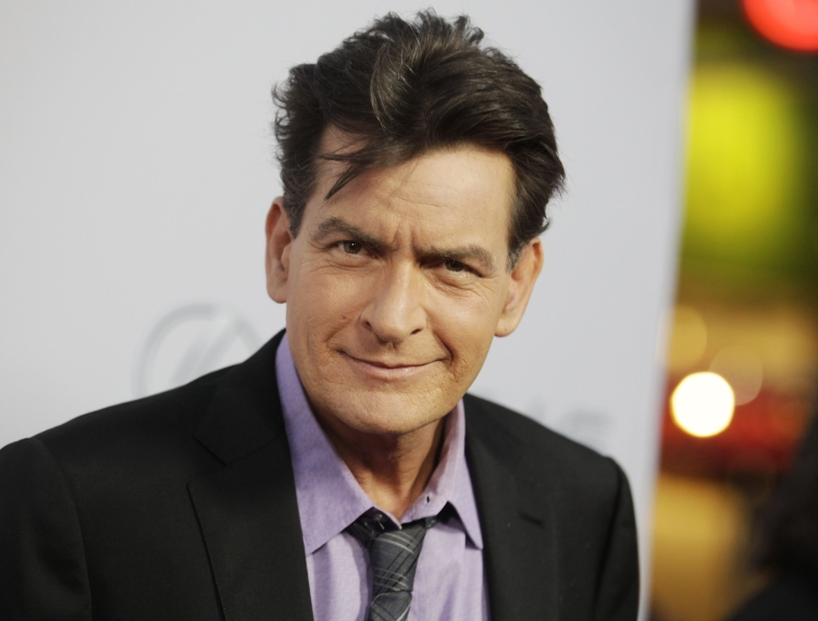 charlie sheen purple shirt and tie reuters